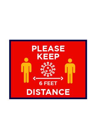 Please Keep 6 Feet Distance