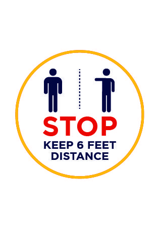Stop Keep 6 Feet Distance